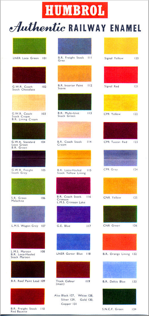 Model Master Paint Color Chart
