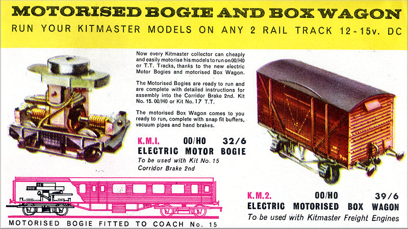 Motorising Kits Km 2 Electric Motor Box Wagon Trade Catalogue Announcement Click On Image For Full Size Photo